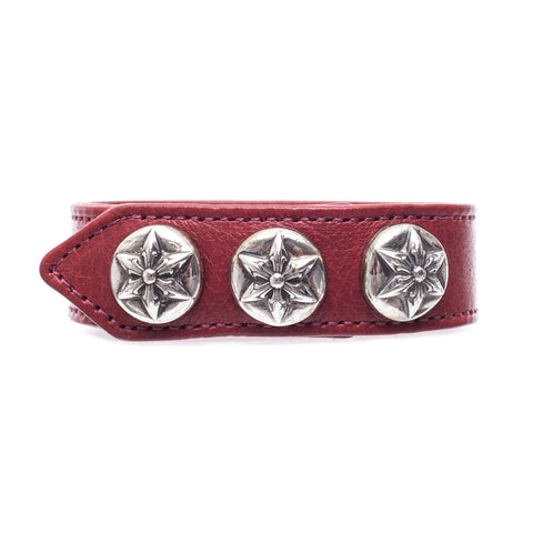 Chrome Hearts Five Point Star Leather Bracelet at Feuille Luxury - 1