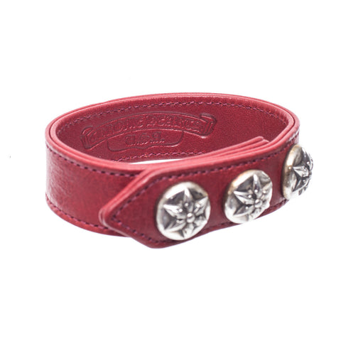 Chrome Hearts Five Point Star Leather Bracelet at Feuille Luxury - 4