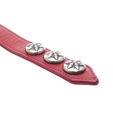 Chrome Hearts Five Point Star Leather Bracelet at Feuille Luxury - 6