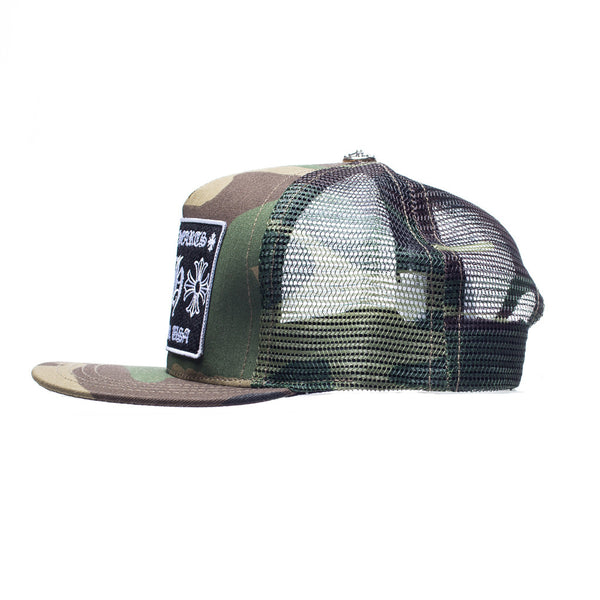 Chrome Hearts CH Patch Camo Trucker Cap at Feuille Luxury - 2