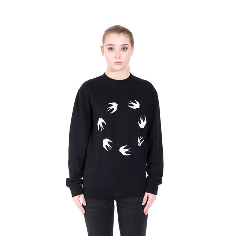 Alexander McQueen McQ Circle Swallow Sweater at Feuille Luxury - 2