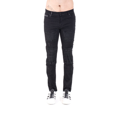 Marcelo Burlon Gil Biker Slim Fit Jeans at Feuille Luxury - 1