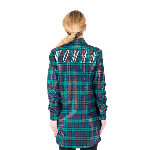Off-White Lurex Check Shirt at Feuille Luxury - 3