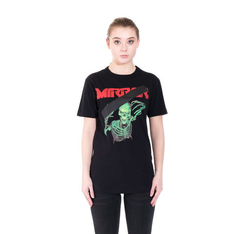 Off-White Mirror Skull Tee at Feuille Luxury - 2