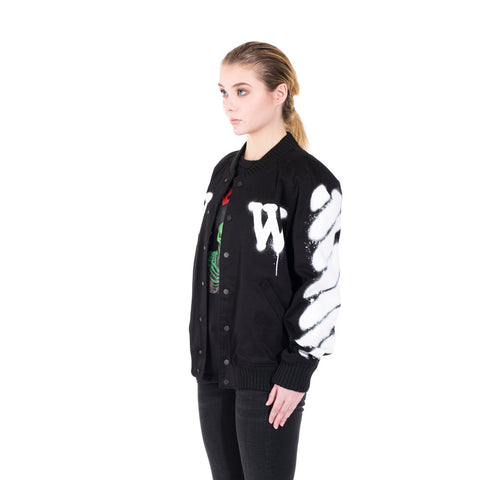 Off-White Diagonals Varsity Jacket at Feuille Luxury - 2