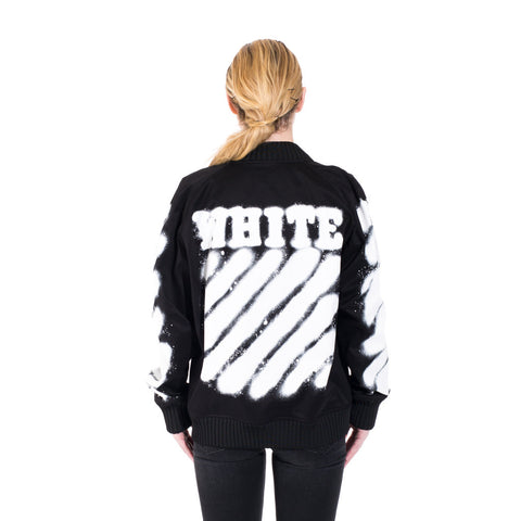 Off-White Diagonals Varsity Jacket at Feuille Luxury - 3