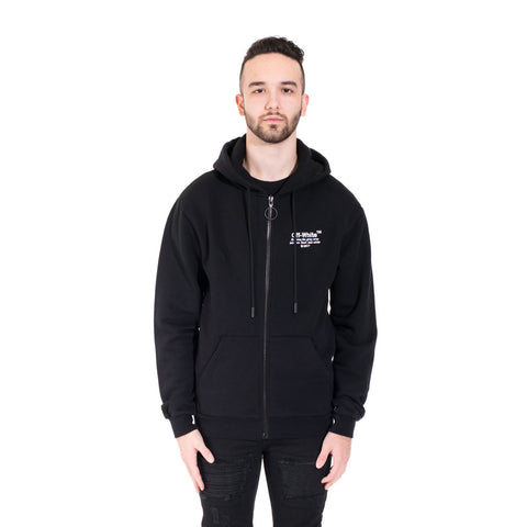 Off-White Off Zipped Hoodie at Feuille Luxury - 1