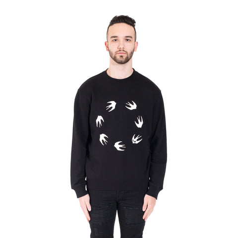 Alexander McQueen McQ Circle Swallow Sweater at Feuille Luxury - 1