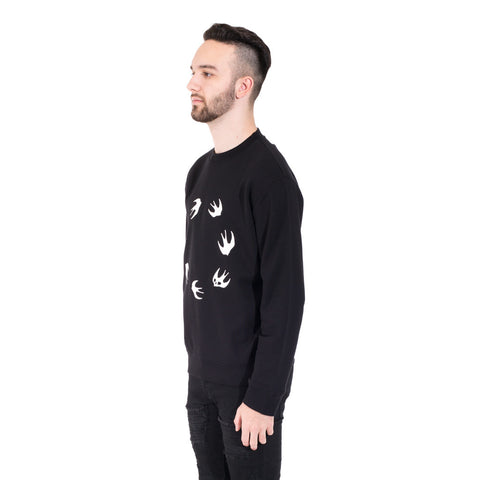 Alexander McQueen McQ Circle Swallow Sweater at Feuille Luxury - 3