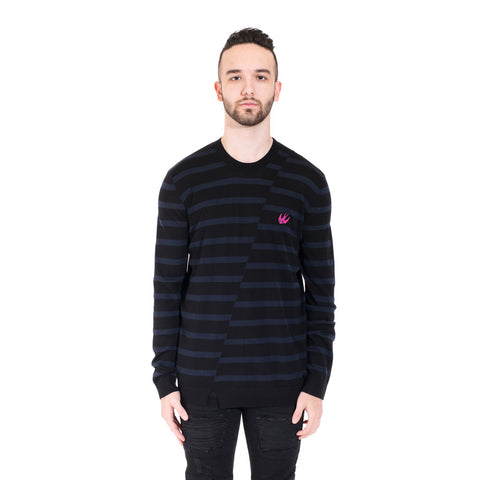 Distorted Stripe Sweater