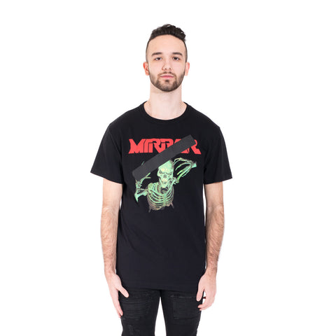 Off-White Mirror Skull Tee at Feuille Luxury - 1
