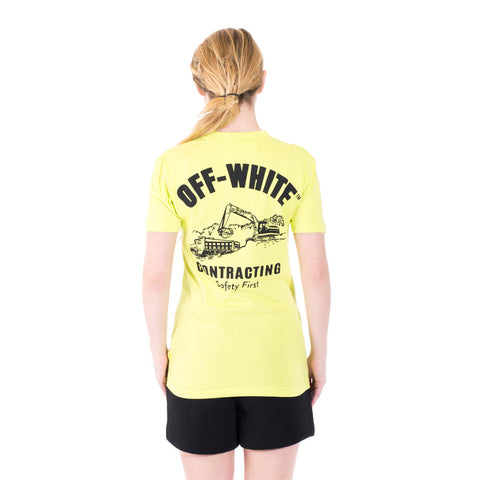 Off-White Construction Tee at Feuille Luxury - 6