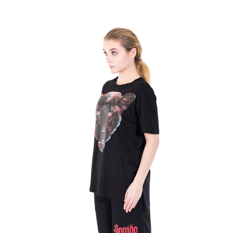 Marcelo Burlon Teodora Poncho Tee at Feuille Luxury - 5