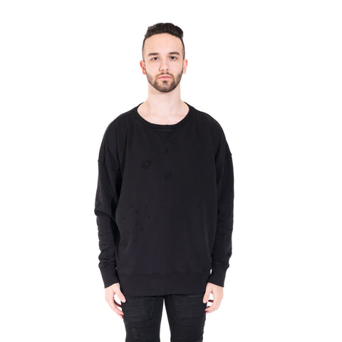 Faith Connexion Distressed Raglan Sweater at Feuille Luxury - 1
