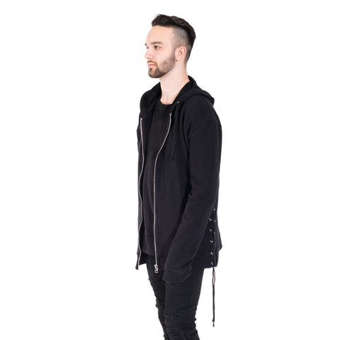 Faith Connexion Laced Zip Hoody at Feuille Luxury - 3