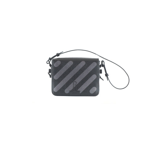 Diagonal Round Flap Bag