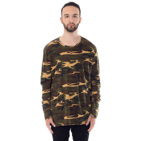 Aged Army Long Sleeve Tee