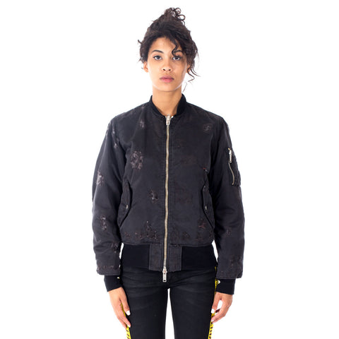 Distressed Bomber Jacket