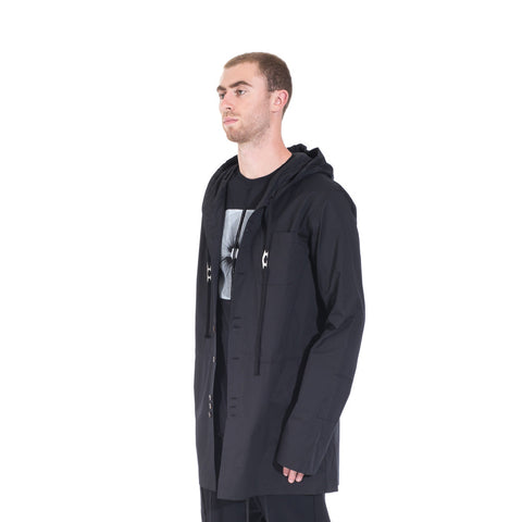 Damir Doma Socrate Linen Parka at Feuille Luxury - 3