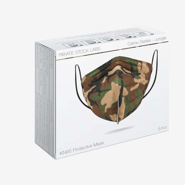 6-Ply KN95 Jungle Camo Protective Mask