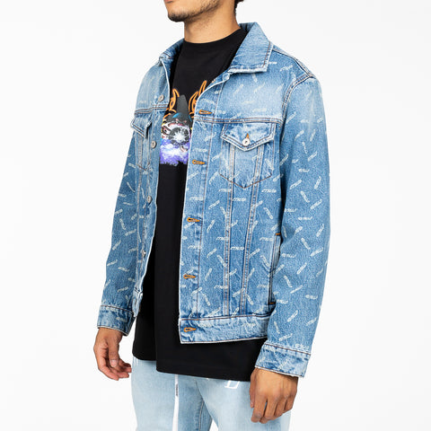 Laser Cut Denim Jacket