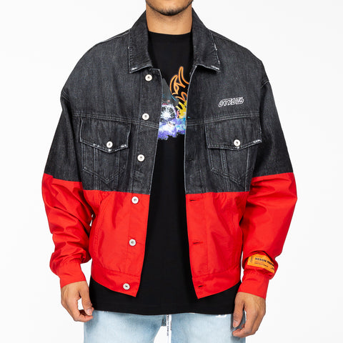 Denim Nylon Jacket