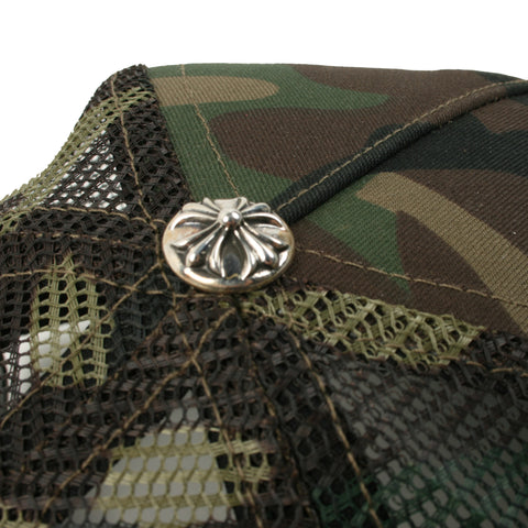 Chrome Hearts F#CK Patch Camo Trucker Cap at Feuille Luxury - 4
