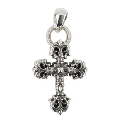 Chrome Hearts XSmall Filigree Cross Pendant at Feuille Luxury - 1