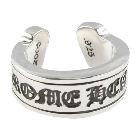 Chrome Hearts CH Scroll Label Ring at Feuille Luxury - 3