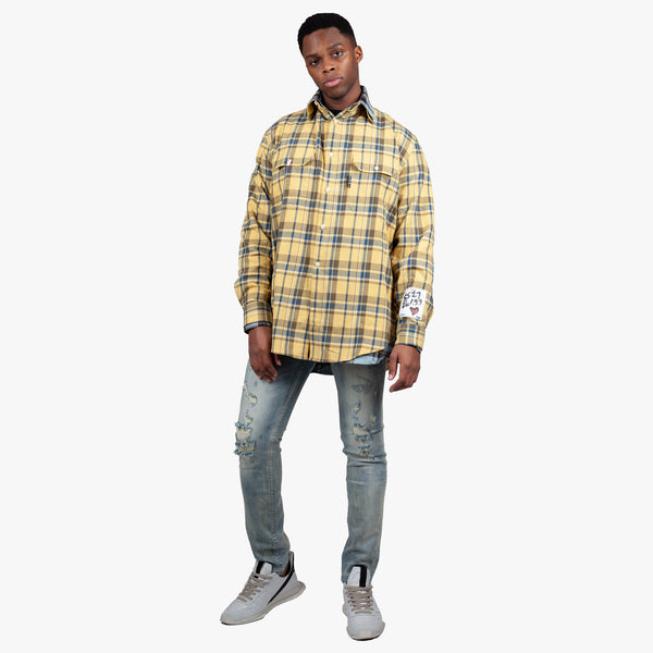 Oversize Reversible Check Shirt