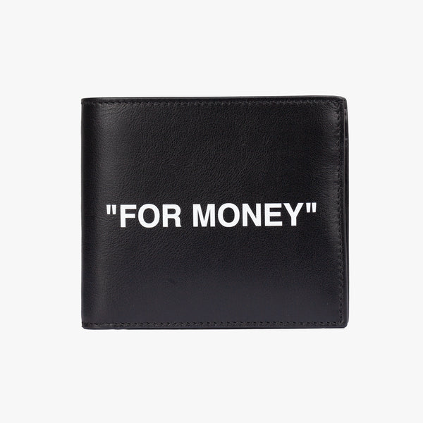 Calf Skin Quote Bifold Wallet