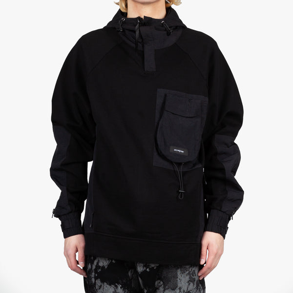 Nedelin Mixed Fabric Hoodie
