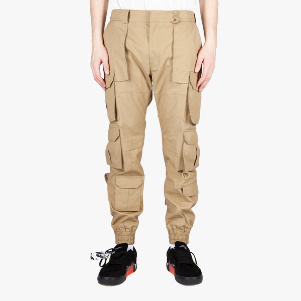 Beige Multicargo Pants