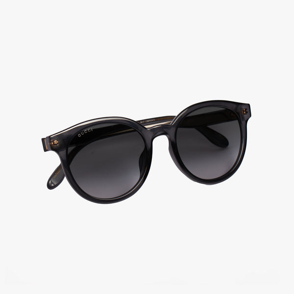 Ladies Grey Round Injection Sunglasses