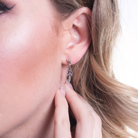 Tiny CH Dagger Earring