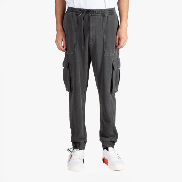 Garment Dyed Cargo Sweatpants