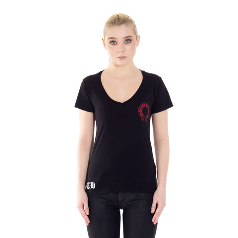 Ladies Cemetery Horseshoe V-Neck Tee