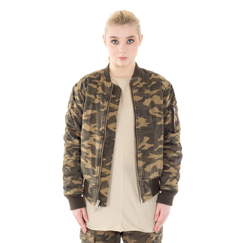 Camo Washed Bomber