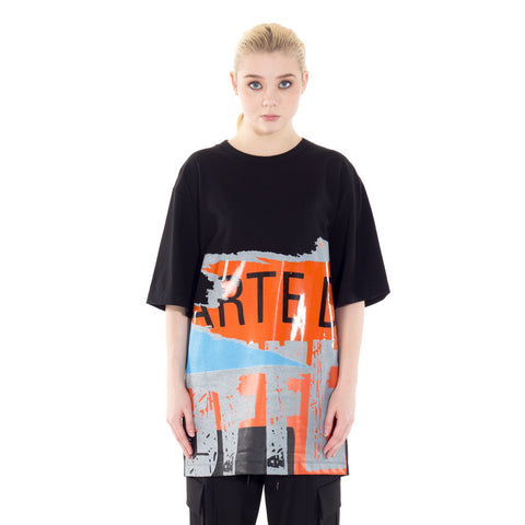 Oversized Newsprint Tee