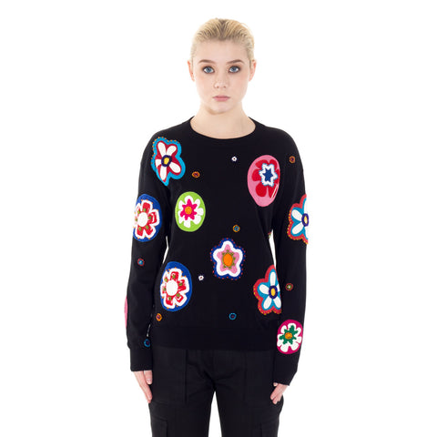 Beaded Flower Sweater