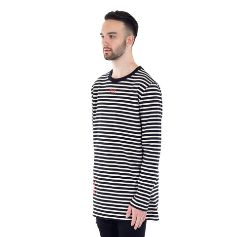 Mirror Stripes LS Tee
