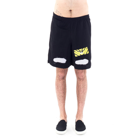 Diagonal Spray Mesh Shorts