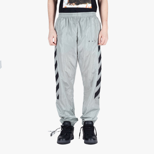 Diagonal Nylon Track Pants