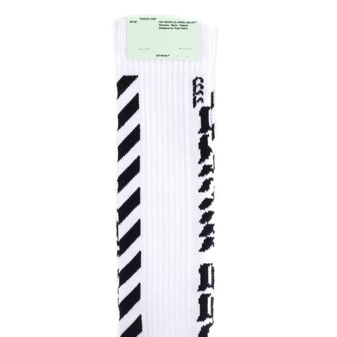 Diagonal Off-White Socks
