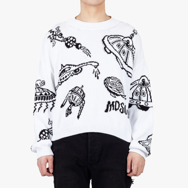 Spaceship Intarsia Sweater