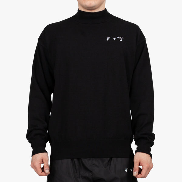 Logo Basic Knit Mock Neck