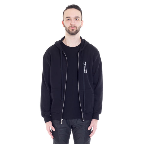 Cemetery Cross Scroll Fleece Hoody