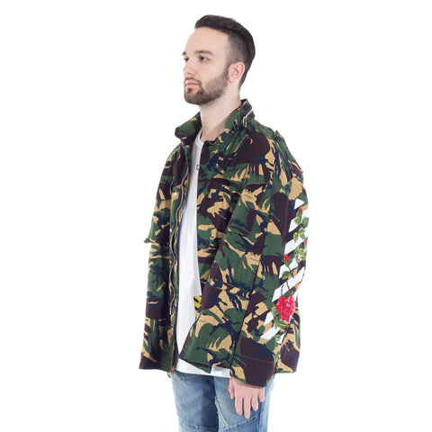 Diagonal Roses M65 Jacket