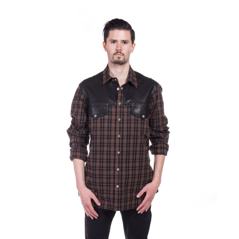 Chrome Hearts Big Mouth Flannel Shirt at Feuille Luxury - 1