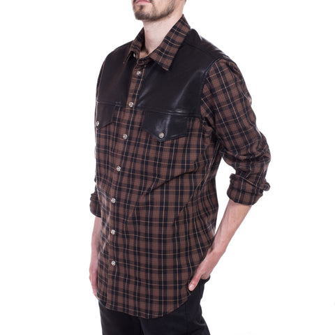 Chrome Hearts Big Mouth Flannel Shirt at Feuille Luxury - 2